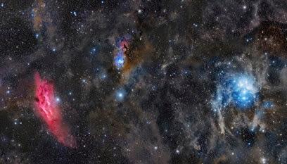 Nebulosa Califórnia e Plêiades