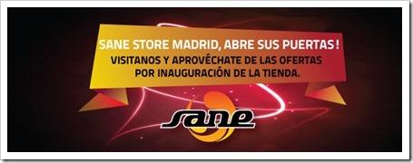 """La firma SANE abre una tienda en Madrid """"Sane Stores Madrid"""" con todos los productos."""