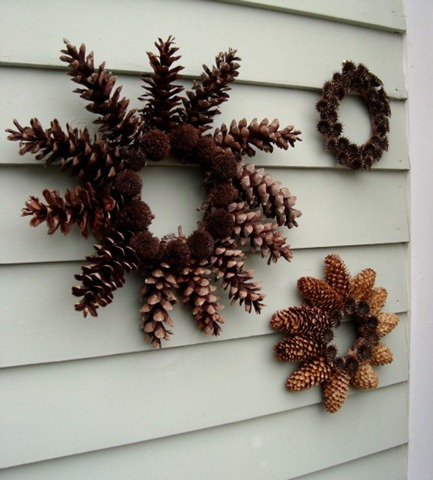 pine cone wreath via maya made