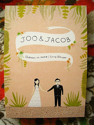The actual front side. Joo sent Erin information about how she and Jacob would be dressed on the wedding day, so the illustration would be accurate.