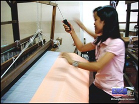 That's me! Las Pinas Handloom Weaving Center