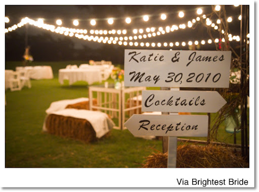 Perfect for an outdoor wedding reception these globe string lights create a