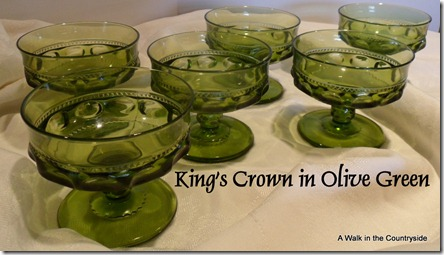 A Walk in the Countryside: King's Crown in Olive Green