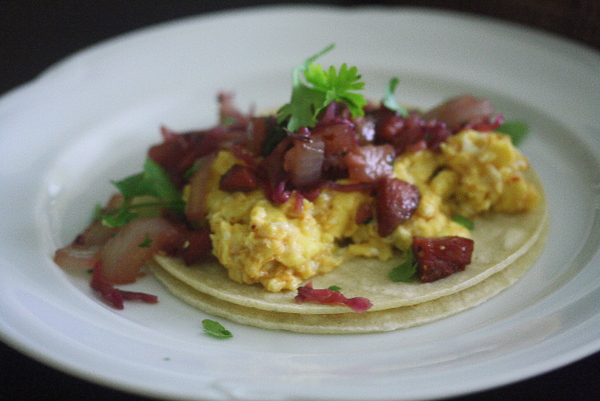 """Austrian Breakfast Tacos with Spicy """"Sauerkraut"""" and Summer ..."""