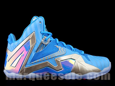 nike lebron 11 ps elite blue 3m 1 02 Nike LeBron 11 Elite Blue Stripe 3M