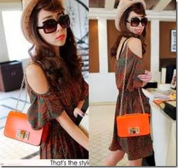 U2889 ORANGE (155.000) - PU Leather, 21 x 14 x 8