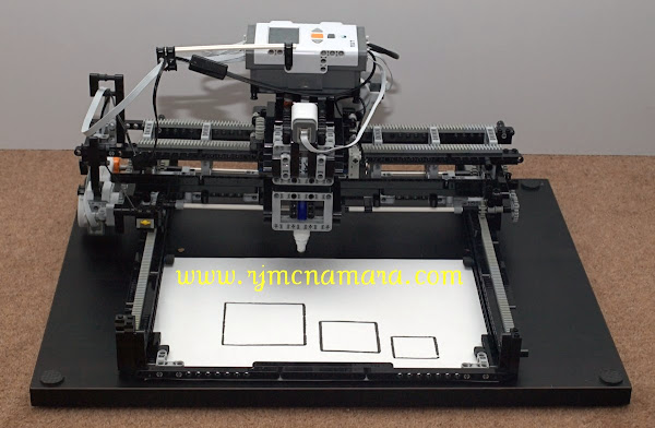 LEGO Mindstorms NXT X-Y Plotter