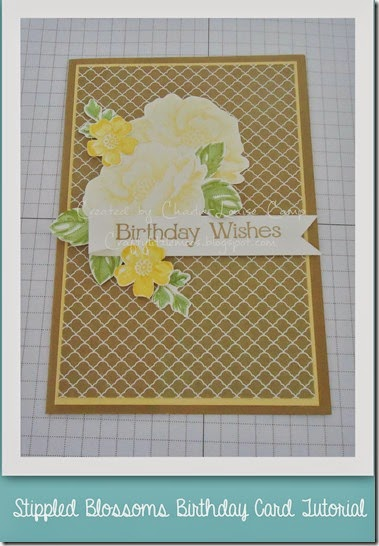 stippled blossom birthday tutorial