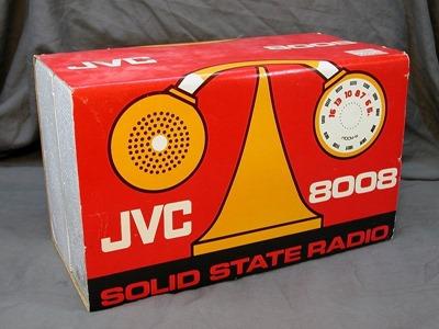 JVC model 8008 radio, box