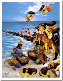 [Vanaras helping Lord Rama]