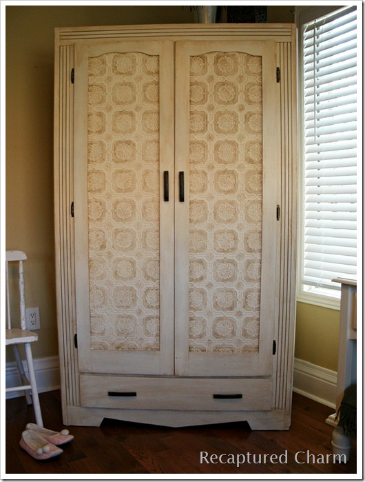 wallpapered armoire 043a
