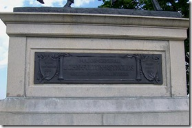 Plaque on the Statue of General John Reynold's