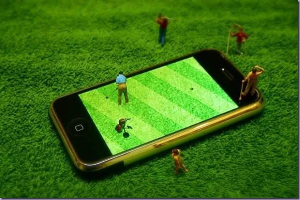 Miniaturas-Iphone-Reproduzindo-Cotidiano-Campo-Golfe