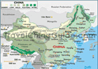 China geography map