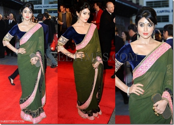 Shriya_Manish_Malhotra_Green_Saree