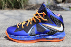 nike lebron 10 ps elite blue black 5 01 Release Reminder: Nike LeBron X P.S. Elite Superhero