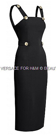 Versace silk dress buckle H&M