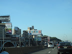 Driving to the TV studio along the West Side Highway, we were so proud to see our Martha on a big billboard.  Good thing we had our camera ready.