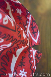 Drawstring Bandanna Backpack Tutorial Step 32
