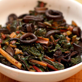 Squid with Swiss Chard