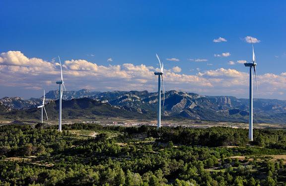 Central eòlica de la Terra Alta.Vilalba dels Arcs, Terra Alta, Tarragona