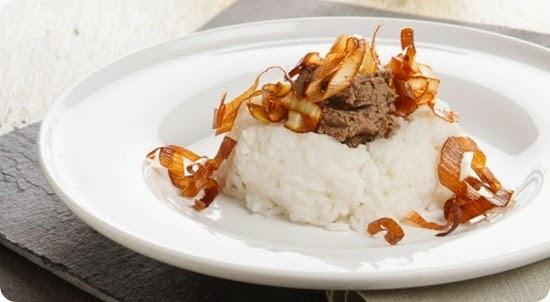 Riso thai profumato con fegatini di pollo