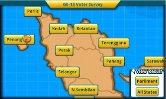 Screenshot of GE-13 Voter Survey