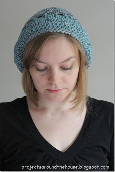 crochet slouchy beret, hat
