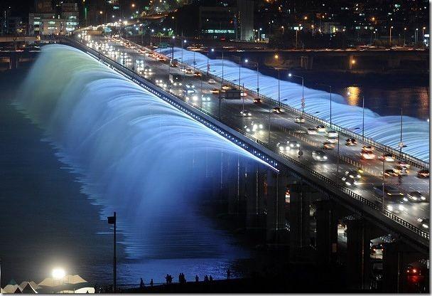 位於南韓首爾的半波大橋