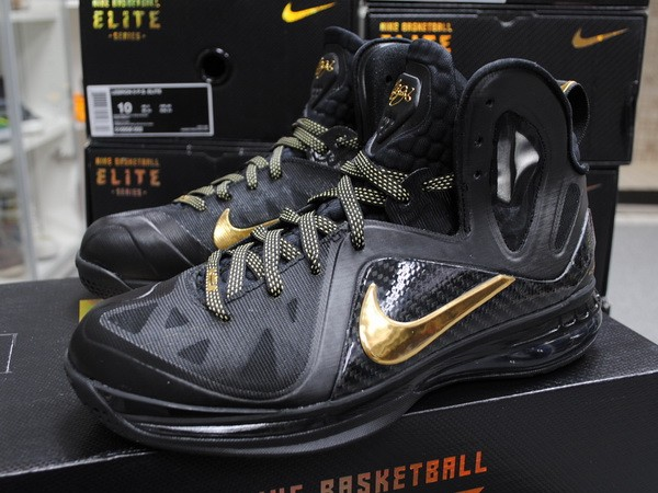 Nike LeBron 9 PS Elite BlackGold 8220Away8221 Real Photos