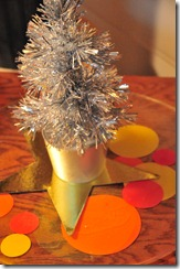 A little silver tree in Education & Outreach.