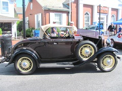model a convertible black yellow wheels