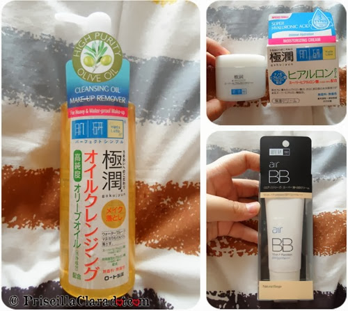 Priscilla haul Hada Labo bb cream cleansing oil