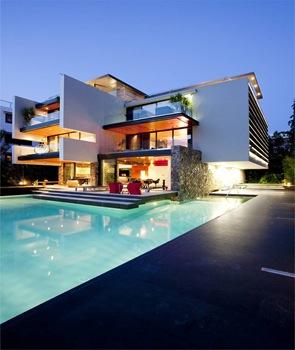 Casa de lujo h 2 estudio 314 arquitectos grecia arquitexs for Alberca cristal londres