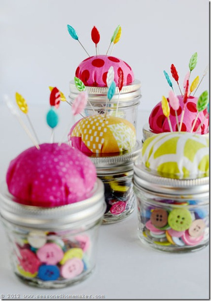 Mason Jar Pin Cushion 15