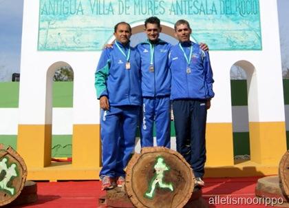 Sebastian Prieto Campeon de Andalucia de Cross y Manuel Dominguez Duran 3º Categoría M45
