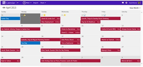 Calendario de Outlook