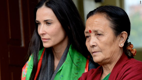 Demi Moore with Anuradha Koirala CNN Hero 2010