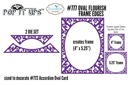 777 Oval Flourish Frame Edges