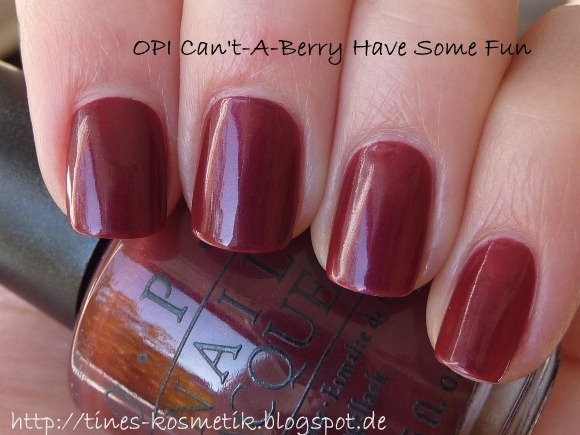 OPI Cant-A-Berry Have Some Fun 4
