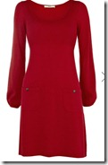 Oasis red knit dress