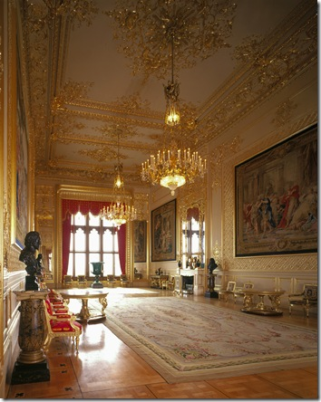 The Grand Reception Room at Windsor Castle.