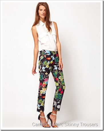 Camilla & Marc Skinny Trousers In Botanical Print
