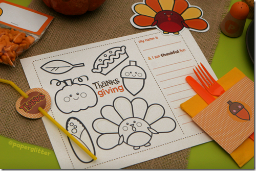 paperglitter thanksgiving free printable coloring page