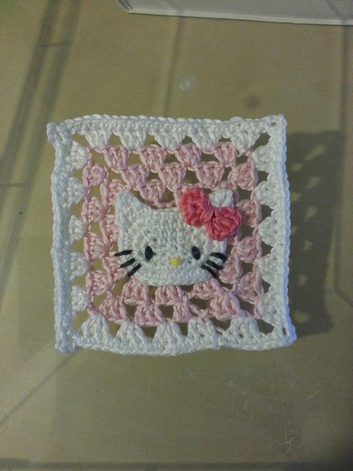 Hello Kitty Dishcloth Knitting Pattern : Colourjoyful: Crochet Project #3: Hello Kitty Coaster