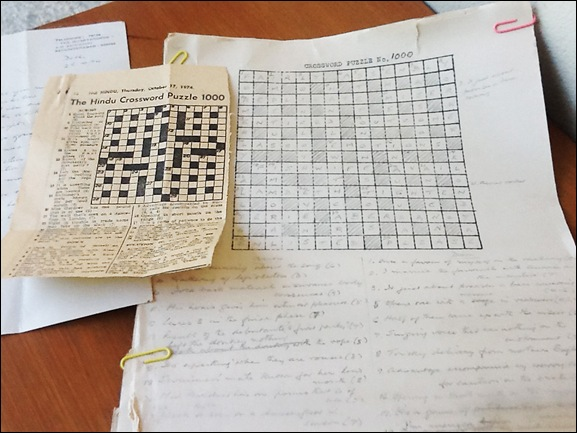 Print and handwritten versions of The Hindu Crossword no. 1000