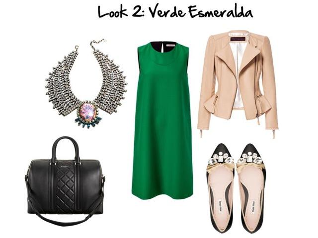 Look 2. Verde esmeralda