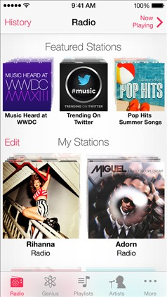Apple iOS 7 iTunes Radio