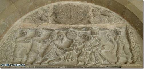 Tímpano de la Epifanía - Claustro de San Pedro el Viejo - Huesca