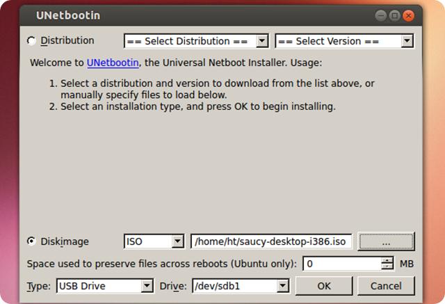 В ubuntu и производных unetbootin можно также